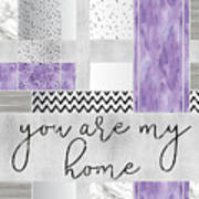 Graphic Art Silver You Are My Home - Violet Art Print