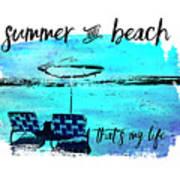 Graphic Art Summer And Beach Art Print