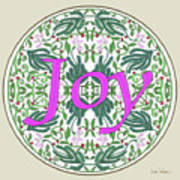 Graphic Designs Button Joy Art Print
