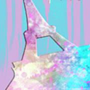 Graphic Style Paris Eiffel Tower Pink Print by Melanie Viola