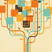 Graphic Tree Print by Setsiri Silapasuwanchai