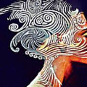 Graphism For Nefertiti Art Print by Paulo Zerbato