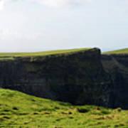 Grass Fields Surrounding The Cliff's Of Moher Art Print