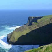 Grass Growing Along The Sea Cliffs In Ireland Art Print