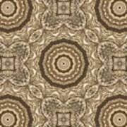 Grass Seed Crocheted Doily Art Print