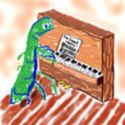 Grasshoppers Don't Play Piano Art Print