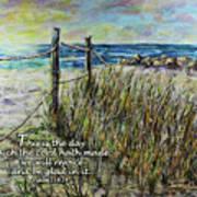 Grassy Beach Post Morning Psalm 118 Art Print