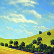 Grassy Hills At Meadow Creek Art Print