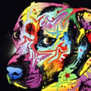 Gratitude Pit Bull Warrior Art Print by Dean Russo