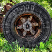 Gravel Pit Goodyear Truck Tire Art Print