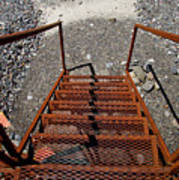 Gravel Pit Grinder Rusty Staircase Art Print