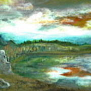 Gravel Pit Overgrown Art Print