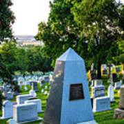 Graves At Sunrise Arlington Cemetery Art Print