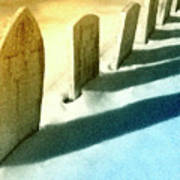 Gravestones In Winter Art Print