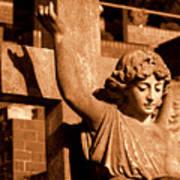 Graveyard Angel. Art Print