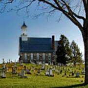 Graveyard Church Art Print
