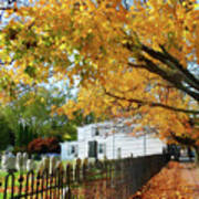 Graveyard In Autumn Art Print
