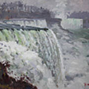Gray And Cold At American Falls Art Print