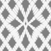 Gray Twisted Braids Art Print