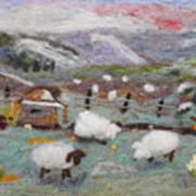 Grazing Woolies Art Print