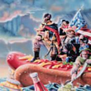Great American Hot Dog Art Print