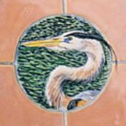 Great Blue Heron Art Print by Dy Witt