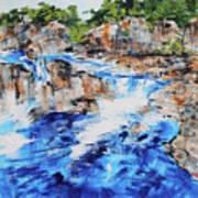 Great Falls Waterfall 201826 Art Print