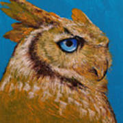 Gold Owl Art Print