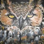 Great Hornet Owl Art Print by Sandra Peyrolle