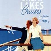Great Lakes Cruises - Canadian Pacific - Retro Travel Poster - Vintage Poster Art Print