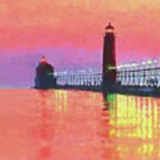 Great Lakes Light Art Print