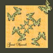 Great Nawab Butterfly Wheel Art Print
