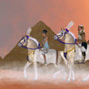 Great Pyramids And Nobility Art Print