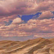 Great Sand Dunes And Great Clouds Art Print