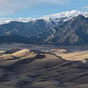 Great Sand Dunes Panorama Art Print