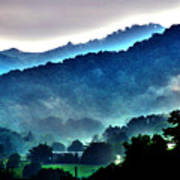 Great Smokey Mountains Print by Susanne Van Hulst