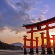 Great Torii Of Miyajima At Sunset Art Print