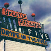 Greater Pittsburgh Five Drive-in Art Print