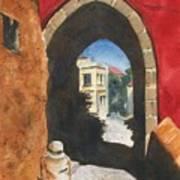 Grecian Passageway Art Print