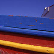Greece. Colorful Fishing Boat Art Print