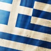 Greece Flag Art Print by Setsiri Silapasuwanchai
