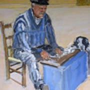 Greek Fisherman Crete Art Print