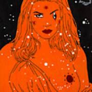 Greek Goddess In The Sky Art Print