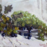Greek Grapes Art Print