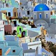 Greek Isle Of Santorini Art Print