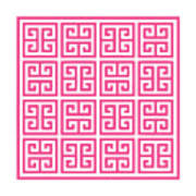 Greek Key With Border In French Pink Art Print