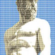 Greek Statue #2 - Blue Art Print