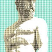 Greek Statue #2 - Light Blue Art Print