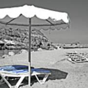 Greek Umbrella Art Print