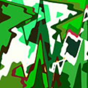 Green Abstract Squared #2 Art Print
